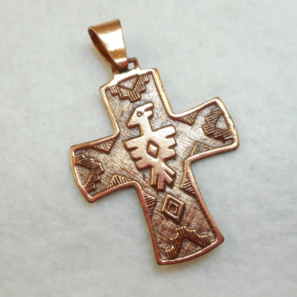 71 off brazil jewelry vintage native american copper cross pendant vintage native american copper cross pendant aloadofball Images